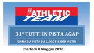 Ieri 8 Maggio al centro sportivo di Pioltello si è disputata la 31° Tutti in Pista Agap. Gli atleti si sono sfidati sulle distanze di 5000m e 1000m. Di seguito […]