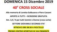 00Giorni 00Ore 00Min 00Sec DOMENICA 15 Dicembre 2019 40° CROSS SOCIALE  Alla memoria di Loretta Galbusera e Piero Cassani APERTO A TUTTI – ISCRIZIONE GRATUITA Km. 3,4 / 4 […]